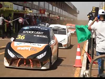 Stockcar Racing Box Accident