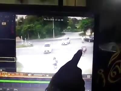 CCTV. ACCIDENT