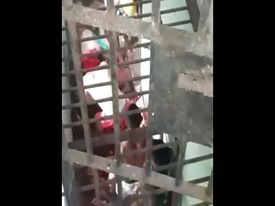 New Rebellion in Prison, Brazil (different angle)