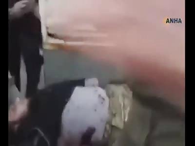 Turkish mercenaries exchange fire in the city of Al-Bab after an explo