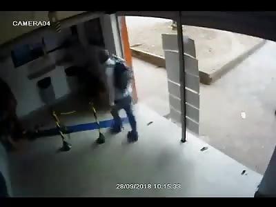 CCTV. burglar executed