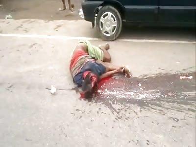 (Repost)  Fatal accident leaves brain scattered on asphalt
