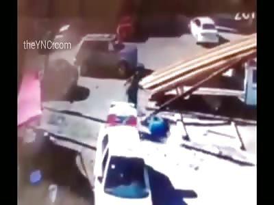 CCTV MURDER- Hitman Guns Down His Victim Multiples Times