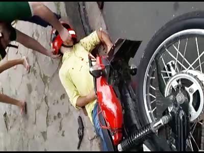 thief receives shot