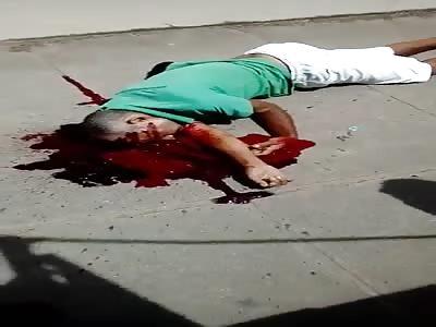 Murdered man with head shot