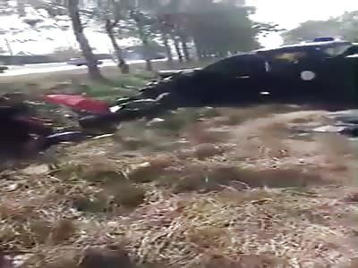 bus accident vs patrol car