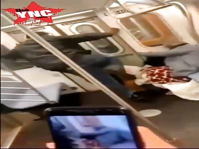 Disturbing Video Shows Man Kicking Elderly Woman in Face on NYC Subway