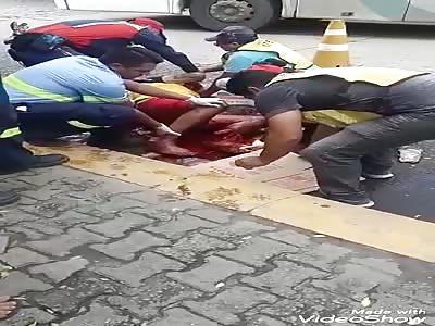 brutal accident leaves legless man
