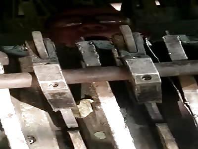 Careless Worker Shredded by Machine.