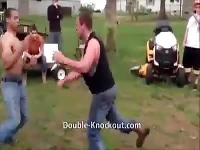 Black man vs whiteman bare knuckle fight