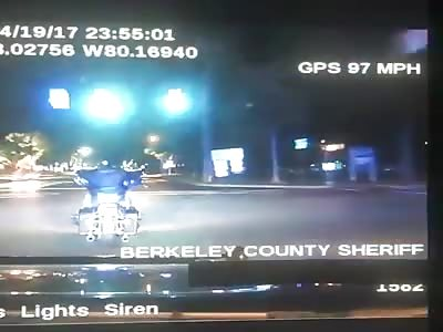 A cop rams into a motorcycle killing rider.