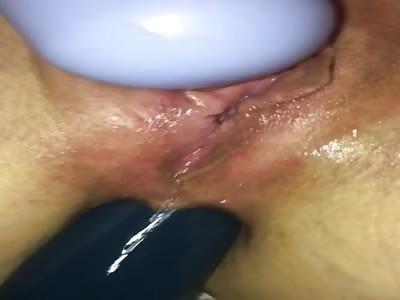 slut wife and her vibrators