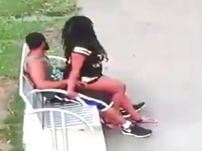 Ebony Couple Caught Public Sex