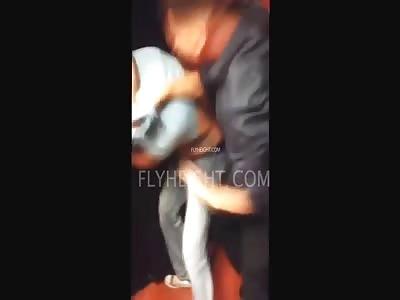 Guy gets beaten up at wedding bathroom...