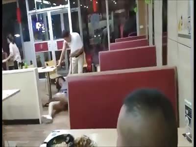 Couple is violently beaten in restaurant