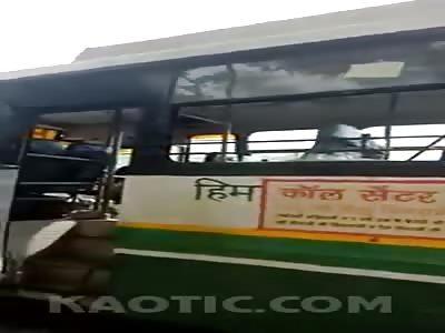 Dead lat stren afterba bus destroys their bike