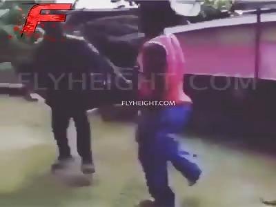 Savage fight