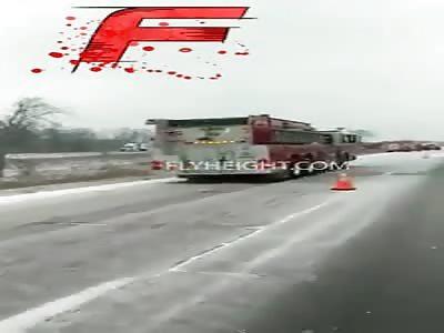 Crash caught on video