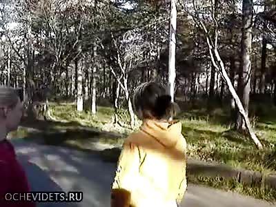 Russian female battle