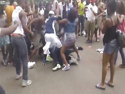 Massive brawl in Washington D.C during caribbean festival