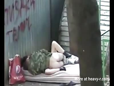 Homeless russian people fucking