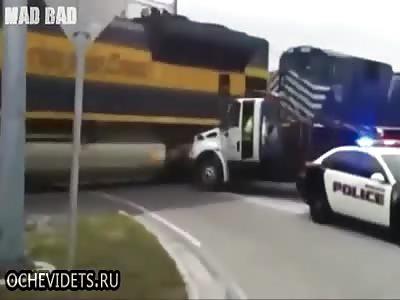 Idiots against the train