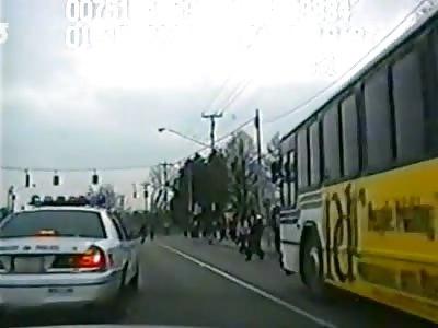 Cop Plows Into Shirtless Man