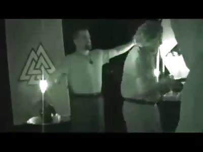 Fragment of ritual satanic
