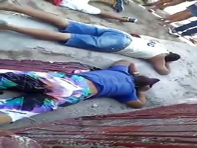 horrible scene mourners