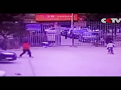 Bomb explodes near child