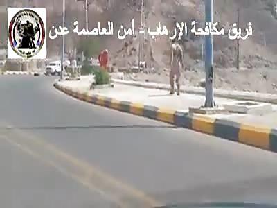 Terrorist surprised by anti terror in aden