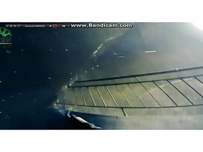 Isis cornering enemies in a building