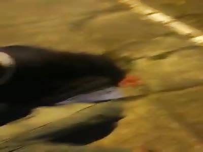 Thief beaten by victim