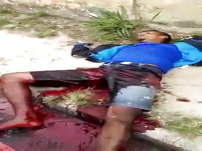 Thugs plot shots with police in rio de janeiro