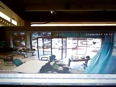 Security shoting thief