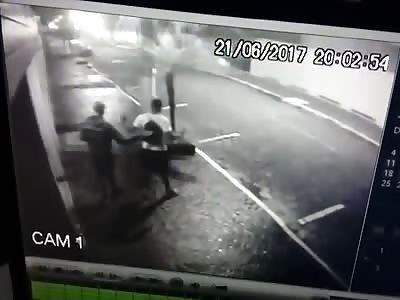 Cop killing thief