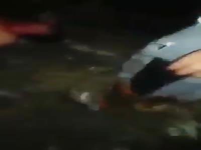 Thief beaten and burned in Brazilian slum