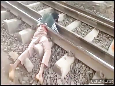 suicide in line train