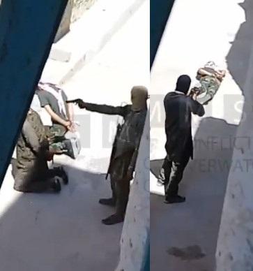 Al-Qaeda executes with pistol and AK-47 two rival militants in Idlib