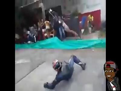 lol shocking accident with biker