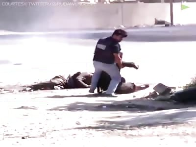 shocking :Kurdish TV Reporter Helps Civilians Injured By Hashd-Al-Shaabi In Kirkuk