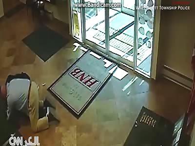 Robert Saxoski attacked an armed robber at a bank in Pennsylvania