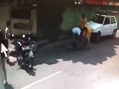 thief brutally beaten in atempt robbery
