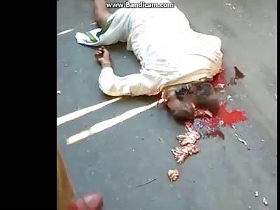 horrific accident with biker