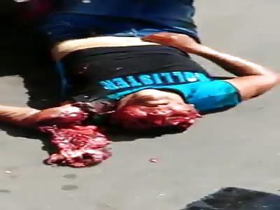 Horrific accident with school bus.