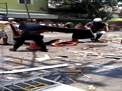 fireworks vendor suffers accident