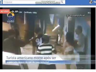 American tourist beaten to death here in Brazil