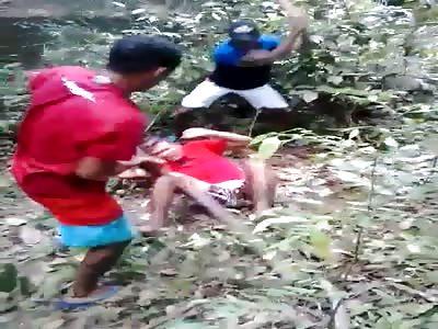 man brutally beaten with sticks