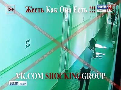 Kerch Shooter In Action. Russian Columbine