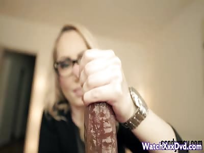 Candy May - POV handjob with a big wrist watch